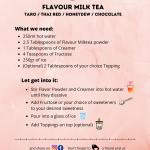 Flavour Milk Tea